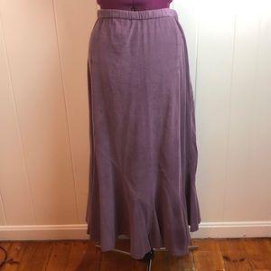 Vintage 80s/90s Purple Corduroy Maxi Skirt